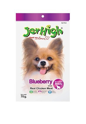 Jerhigh Blueberry Stick Premium Dog Snack Great Taste For Great Happiness 70G.