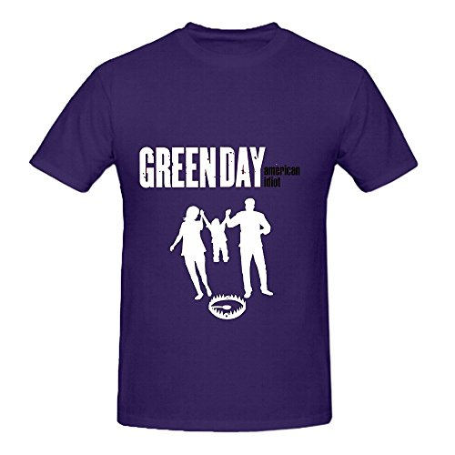 American Idiot Green Day Roll Men O Neck Art Shirts Purple (Disco Pants American Apparel compare prices)