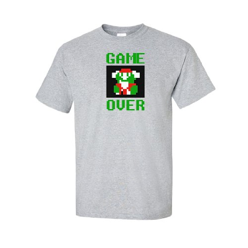 Iamtee Game Over T-Shirt-Grey-S