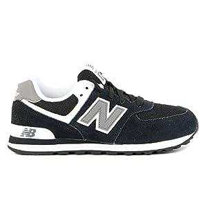 New Balance KL574 Pre Running Shoe (Little Kid),Black,3 M US Little Kid