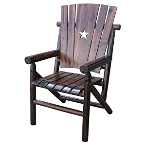 Leigh Country Leigh Country Char-log Dining Chair with Star by United General Supply Co Inc
