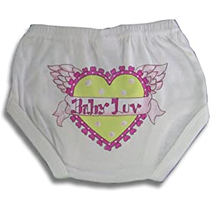 Light of Mine Designs Baby Love Diaper Cover/Panty Brief, 6 Months