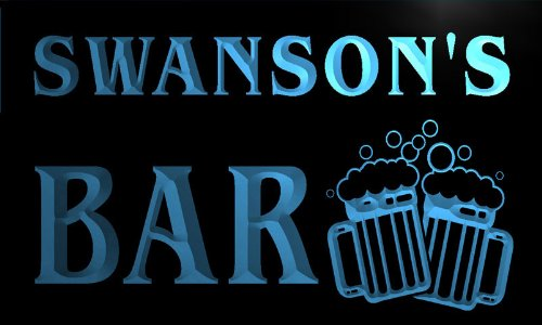 w000375-b-swansons-nom-accueil-bar-pub-beer-mugs-cheers-neon-sign-biere-enseigne-lumineuse