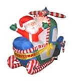 """Chrisha Creations 00302 57""""Infl Santahelicopter Christmas, Outdoor Figures, Inflatable"""