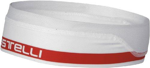 Castelli Summer Headband White/Red, One Size - Men'S