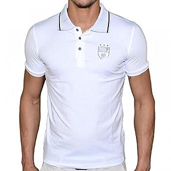 En Solde - Ea7 Emporio Armani - Polo Manches Courtes - Homme - Train Soccer Polo 273598 - Blanc - L