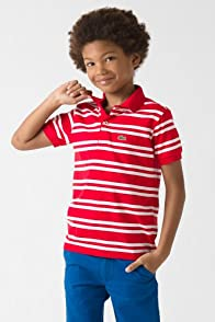Boy's Short Sleeve Fine Stripe Jersey Polo