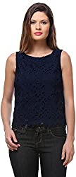 Senora Women's Regular Fit Top (Senora-T102_40, Navy Blue, 40)