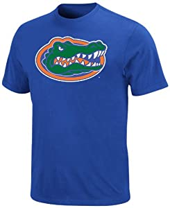 NCAA Florida Gators Football Icon Shock Blue Short Sleeve Basic Tee By Majestic, Shock Blue, Large