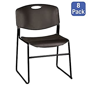 Norwood Commercial Furniture Heavy Duty Plastic Stack Chair W Black Seat And