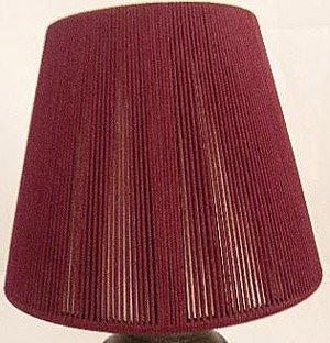 1, BURGUNDY, CHANDELIER, or, CANDLE LIGHT, CLIP-ON, LAMP SHADE, fits, CANDELABRA BULBS, NEW, DARK WINE , LAMP SHADE, is, DOUBLE, LAYERED, with, WHITE LINING, LIGHT, SHADE, is 3