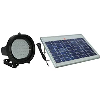 solar 45 led flag pole light 6 watt solar panel flood lighting. Black Bedroom Furniture Sets. Home Design Ideas