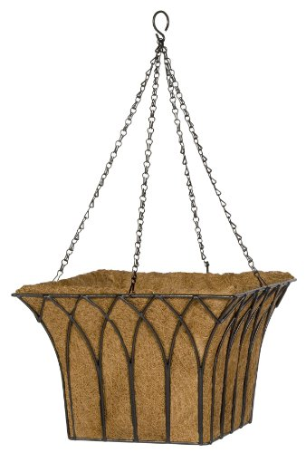 Gardman R805 Gothic Square Hanging Basket with Coco Liner, 14