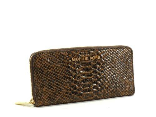 Michael Kors Handbag, Electronics Zip Around Continental Wallet Mocha