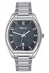 Kenneth Cole Men's KC3712 Reaction Black Dial Silver-Tone Bracelet Watch