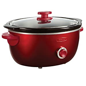 BELLA 13702 Dots Collection Slow Cooker, 6-Quart, Red