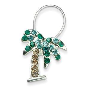 palm tree stretch toe ring jewelry