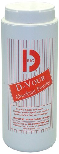 Big D Bgd 166 16 Ounce Lemon Fragrance D-Vour Absorbent Powder (Case Of 6)