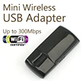 Mini 300 Mbps Wireless 802.11 N/G WiFi USB 2.0 WLAN Network Adapter/Dongle for Windows 7/Vista/XP