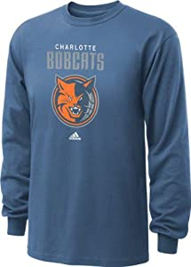 Charlotte Bobcats adidas Pacific Blue Primary Logo Long Sleeve T-Shirt