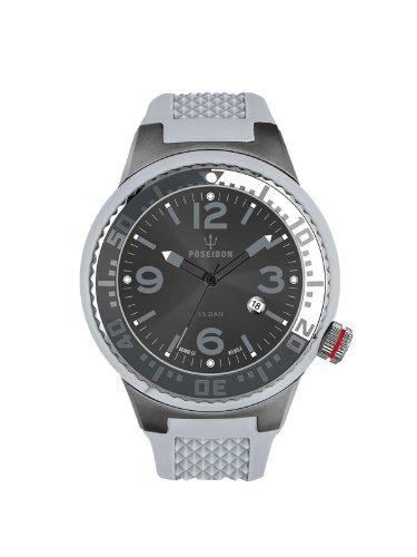 Kienzle POSEIDON S Slim K2103055123-00423 - Reloj analógico de cuarzo unisex, correa de silicona color gris