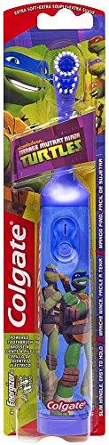 Colgate Kids Power Toothbrush, Teenage Mutant Ninja Turtles, Extra Soft, color and design may vary.