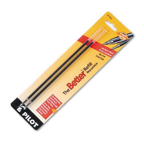 Pilot : Refill, Non-retract Better/BetterGrip/EasyTouch Ballpoint, Med, Red, 2/pk -:- Sold as 2 Packs of - 2 - / - Total of 4 Each тест полоски на глюкозу easytouch 2 х 50 шт подарок глюкометр easytouch g