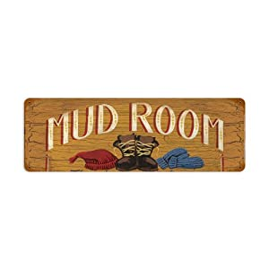Mud Room Vintage Metal Sign Laundry Home Garden 24 X 12 Steel Not Tin