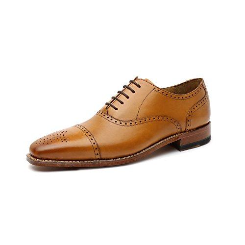 Gordon & Bros Lucquin 2830 Herren Businessschuhe, Schnürhalbschuhe, Anzugsschuhe, Derby Goodyear Leder Braun (tan), EU 41