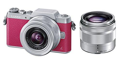 Panasonic ミラーレス一眼カメラ DMC-GF7ダブルズームレンズキット 標準ズームレンズ/望遠ズームレンズ付属 ピンク DMC-GF7W-P
