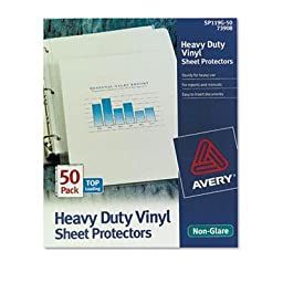 Avery - 2 Pack - Top-Load Vinyl Sheet Protectors Heavy Gauge Letter Non-Glare 50/Box \