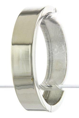 Karmas Canvas Simple Metal Band Bracelet (Silver) front-1067724