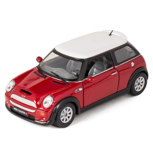 Red Mini Cooper S Die-Cast Collectible Toy Vehicle
