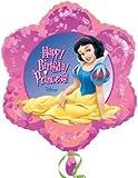 "Happy Birthday Princess Snow White 18"" Flower Shaped Balloon"
