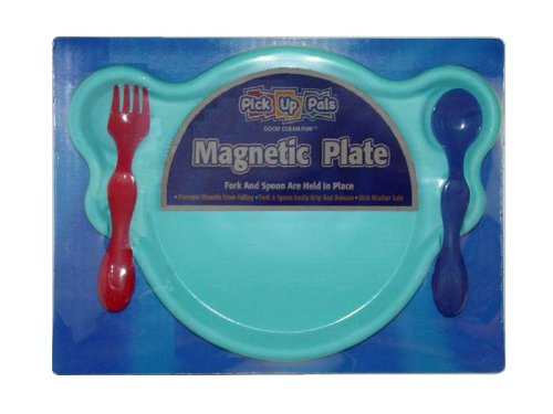 Pick up Pals - Children's Magnetic Plate, Fork and Spoon Set