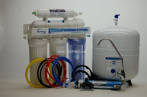 iSpring 75GPD 5-Stage Under-counter Reverse Osmosis RO Water Filter with Clear Housing
