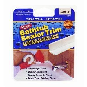 Magic MC436T Tub and Wall Regular Peel and Stick Bathtub Sealer Caulk, 11' Length x 1-5/8