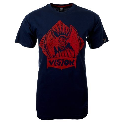 Vision Street Wear Flying Skull T-Shirt , insignia blue