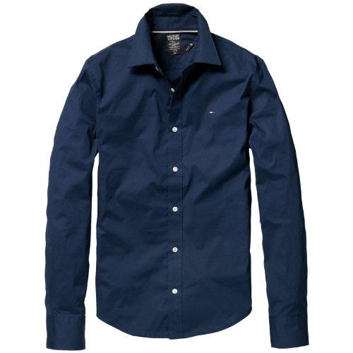 Hilfiger Denim Men's Sabim Shirt L/S Kir / 1953225284 Casual Shirt Blue (409 Peacoat) 54
