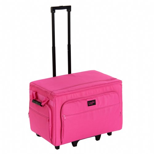 Creative Notions Xxl Sewing Machine Trolley In Pink front-498747