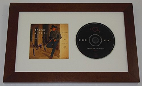 george-strait-carrying-you-love-with-me-signed-autographed-music-cd-compact-disc-cover-framed-displa