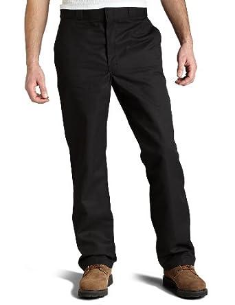 Dickies Men's Flat Front Multi Use Pocket Work Pant, Black, 30x30