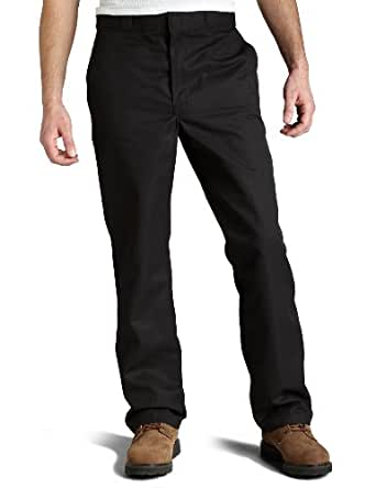 Dickies Men's Flat Front Multi Use Pocket Work Pant, Black, 30x30