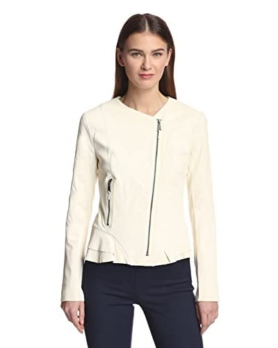 Elie Tahari Women's Erin Leather Moto Jacket