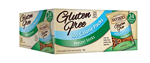 Snyder's of Hanover Gluten Free 100 Calorie Pretzel Sticks, 24 Count (Gluten Free Snyders compare prices)