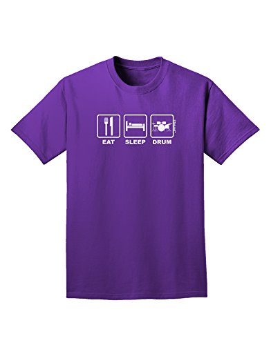 Tooloud Eat Sleep Drum Design Adult Dark T-Shirt - Purple - 3Xl