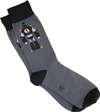 Sock It To Me Men's Robot Socks - Grey - One Size