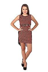 Vteens Red & Black Asymmetrical Dress (Medium)