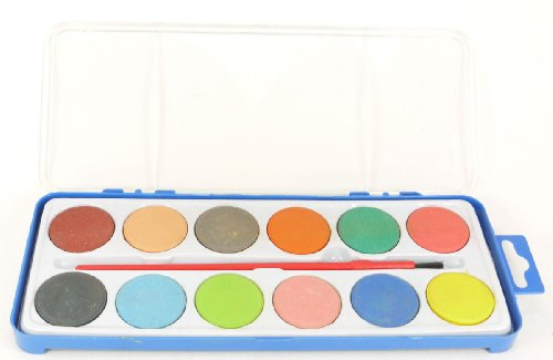 Childrens Watercolor Set with 12 Colors - 1