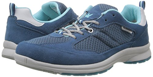 pictures of ALLROUNDER by MEPHISTO Women's Darga Oxford, Blue Suede/Mesh, 7.5 M US